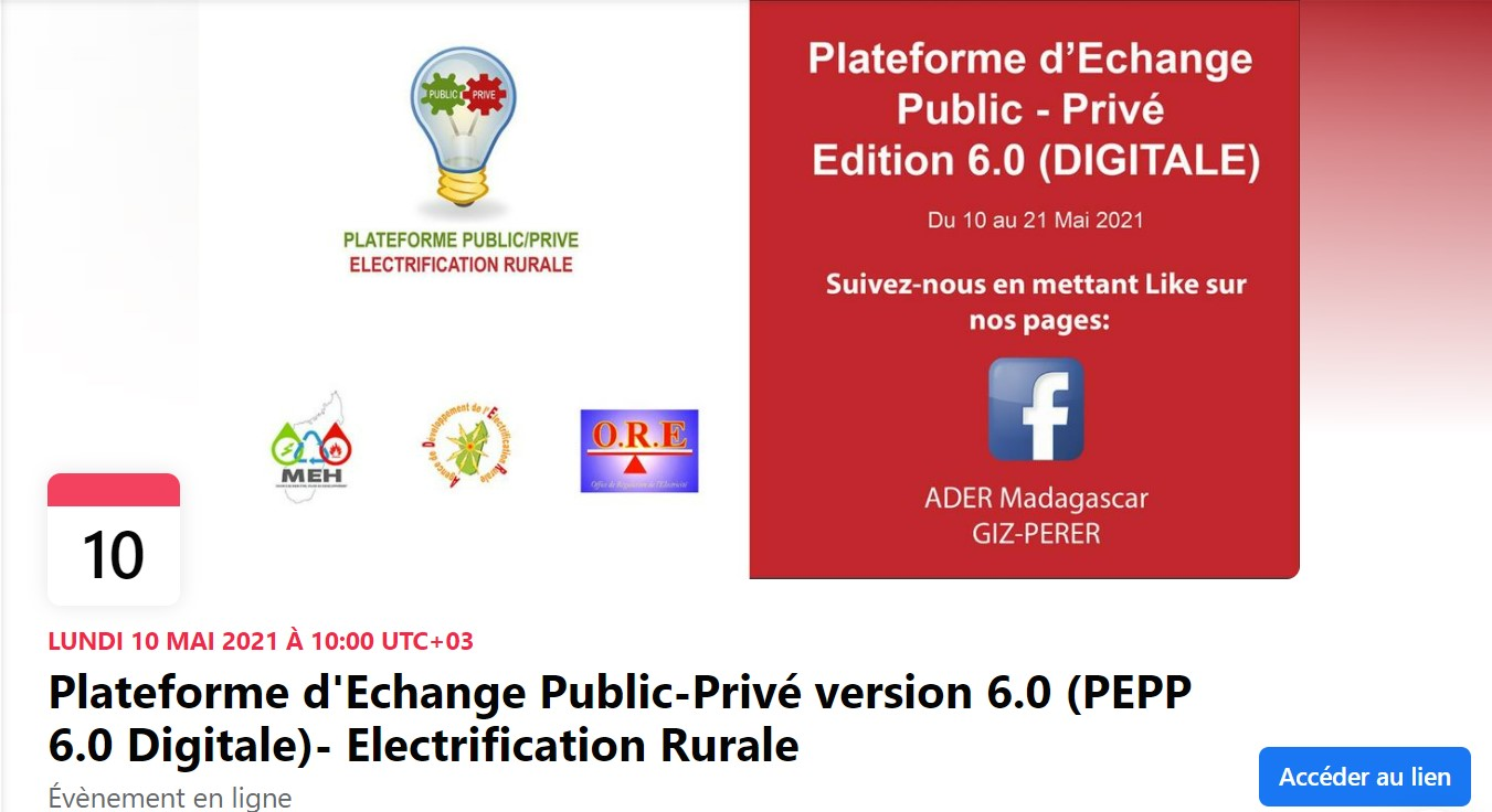 Plateforme d'Echange Public-Privé version 6.0 (PEPP 6.0 Digitale)- Electrification Rurale