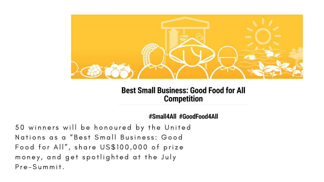 """""""Best Small Business: Good Food for All"""" competition!"""